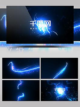 藍色光線震撼LOGO展示PR模板