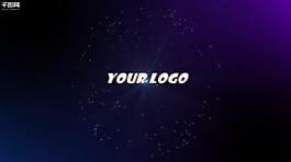 premiere藍色粒子logo演繹