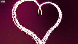 premiere心形粒子絢麗展示模板