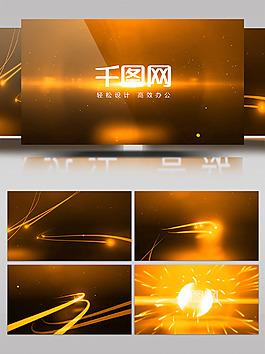 PR模板金色震撼光效公司LOGO片頭展示