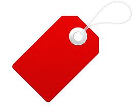 空白大紅吊牌免摳png透明素材