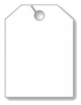 白色空白吊牌免摳png透明素材