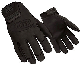 黑色保暖手套免摳png透明素材