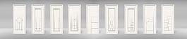 白色金属条门建材模版