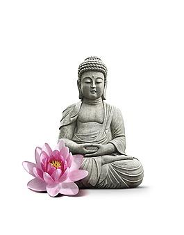 宗教佛主雕像素材