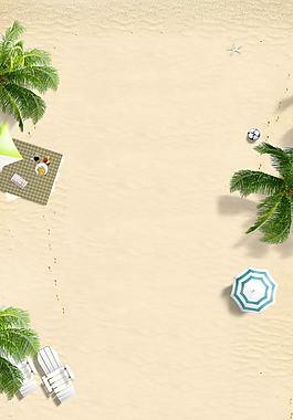 沙灘店鋪背景圖