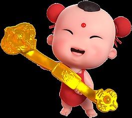 招財童子春節素材喜慶中國風如意吉祥
