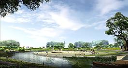 生态公园效果图图片设计素材