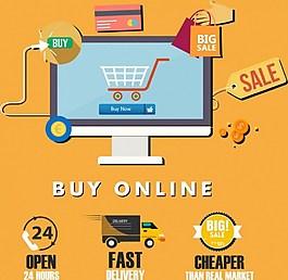 互聯購物圖標
