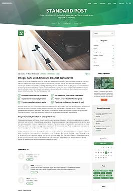 大氣精美的安防監控系統商城網站之個人博客