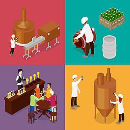 啤酒生產加工設計圖片