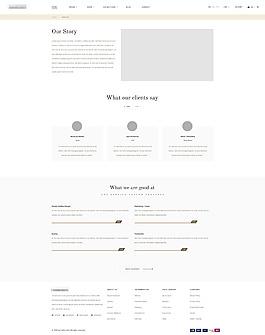 珠寶企業公司網站模板之公司簡介