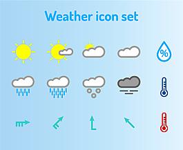 矢量天氣圖標素材