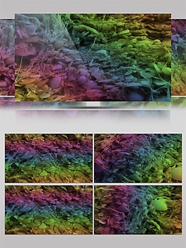 彩色光束云霄视频素材