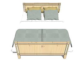 床铺模型效果图