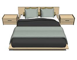 家居卧室su模型综合效果图