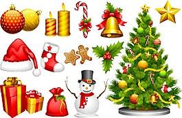 圣誕禮物裝飾圖標ai矢量素材下載