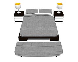 沙发床综合模型效果图