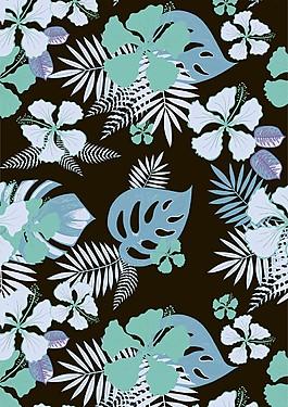 精美植物手绘叶子背景设计