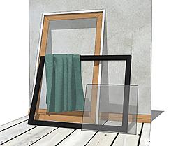 装饰画框su模型效果图