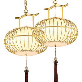 金色高贵圆形笼子装饰元素