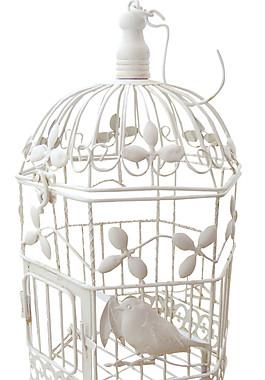 高级银色鸟笼装饰元素