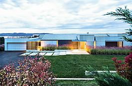 室外別墅裝修草坪設計效果圖