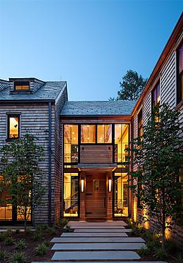 室外別墅走道設計效果圖