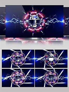 蓝光螺旋卫星视频素材