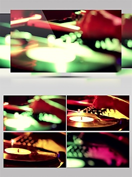 绿色浪漫光束视频素材