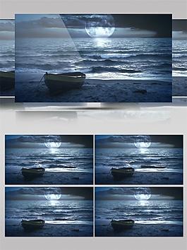 蓝色光束地平线视频素材