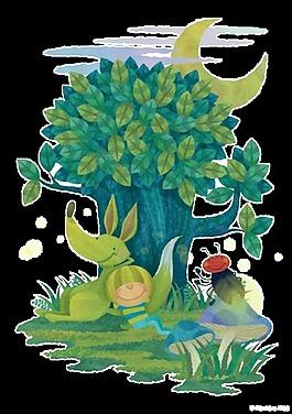 彩繪樹林圖案元素