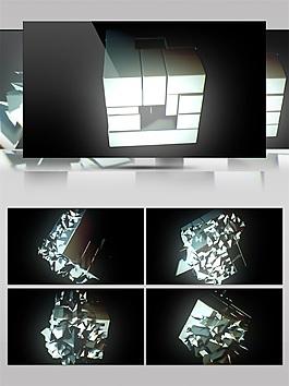 白色光块动态视频素材