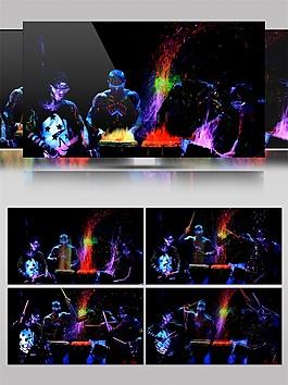 紫光虛構人像動態視頻素材