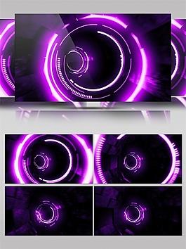 紫色动感光环视频素材