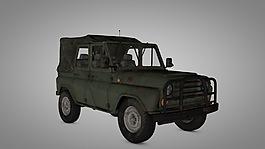 吃雞jeep車模型3D模型