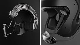 黑色多功能的安全橄欖球頭盔jpg素材