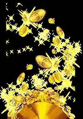 悬浮金币图案设计