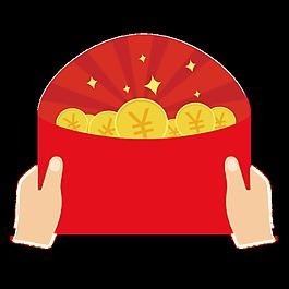 喜庆金币红包素材