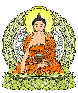 創意佛教佛祖插畫