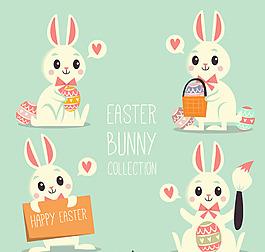 卡通可愛兔子素材