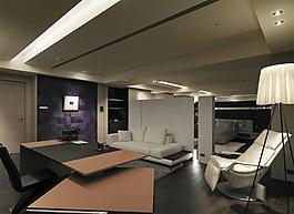 極簡優雅現代客廳裝修效果圖