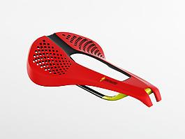 紅色炫酷的自行車鞍座jpg素材