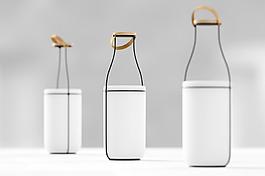 牛奶瓶造型創意的燈具jpg