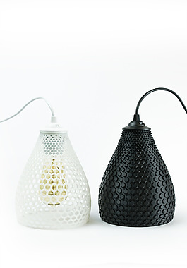 黑色白色两款灯具jpg素材