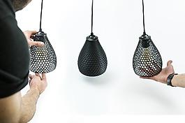 创意黑色镂空的吊灯jpg素材