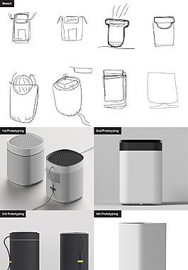 創意手繪簡潔除濕器jpg素材