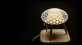 创意个性造型3D打印灯具jpg