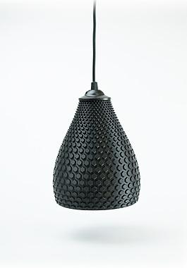 黑色3d打印模型灯罩jpg