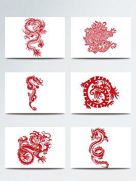 傳統龍紋矢量素材